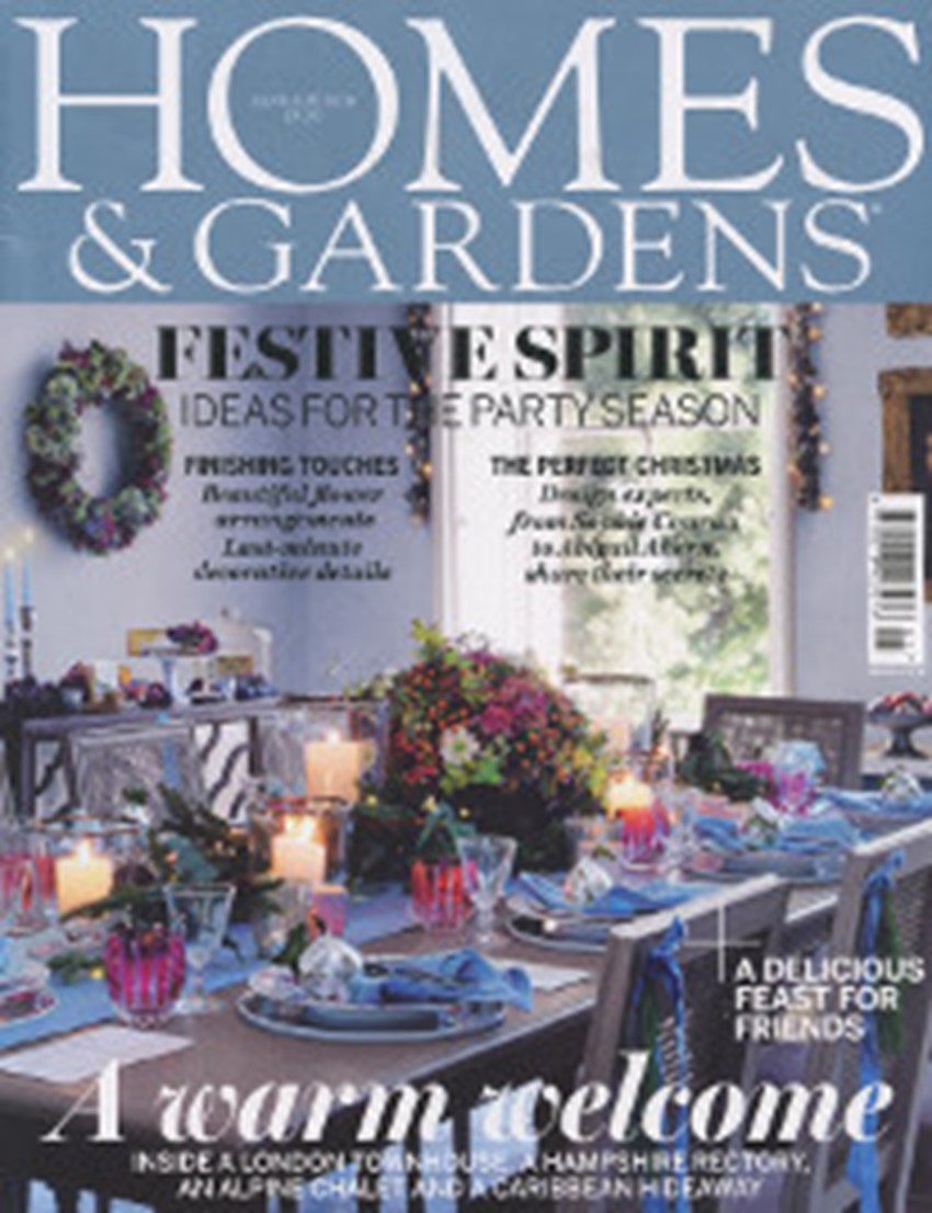 Homes Gardens January 2 0 1 6 Cover