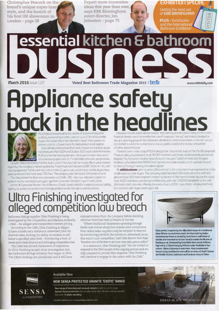 Essential Kitchen Bathroom Business March 2 0 1 6Features and Press Coverage   Martin Moore. Essential Kitchen And Bathroom Business Magazine. Home Design Ideas